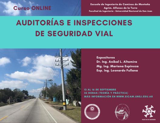 Curso Auditorias e Inspecciones de Seguridad Vial